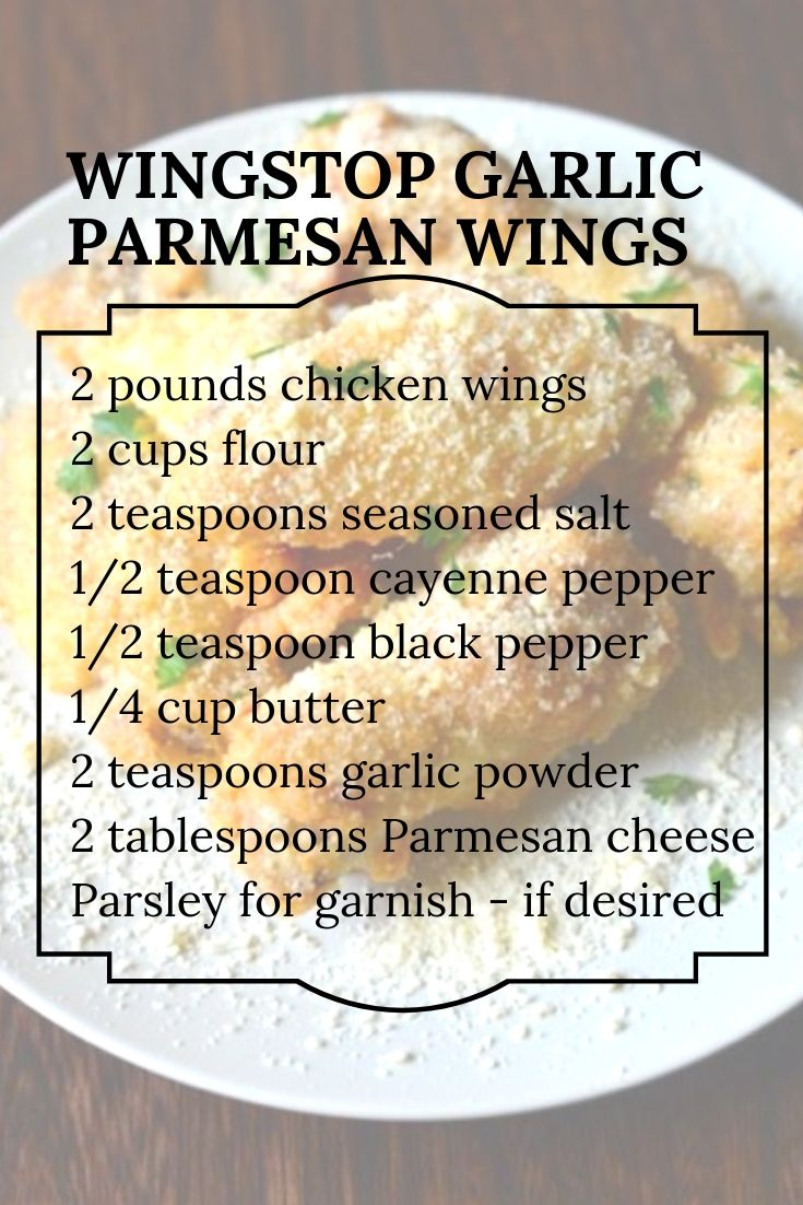 Delicious Garlic Parmesan Wing Recipe From Wingstop Great Seasoning For Chicken That You Should