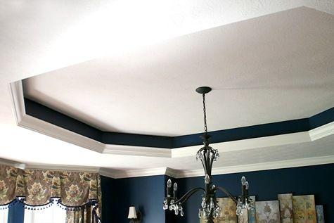 Pop of color in recessed ceiling | Recessed ceilings | Pinterest ...