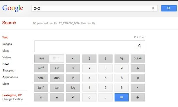 Google Just Got A Lot Better At Math Keyword Ranking Google Search Box Google