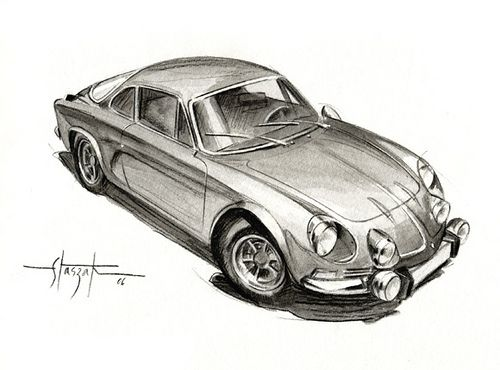 Alpine a110 dessins de voiture alpine a110 alpine et - Dessin de aloine ...