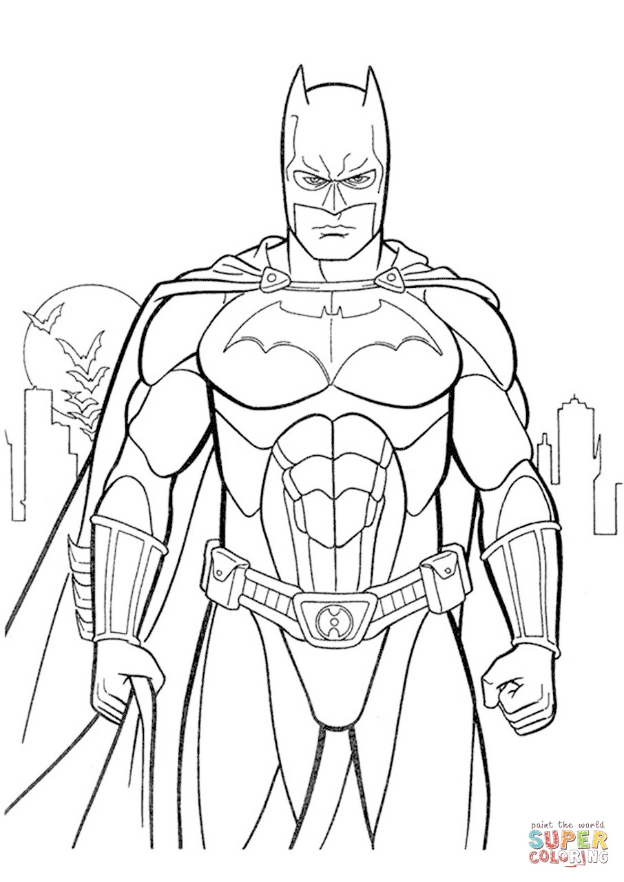 Batman Coloring Pages Page Free Printable Adorable