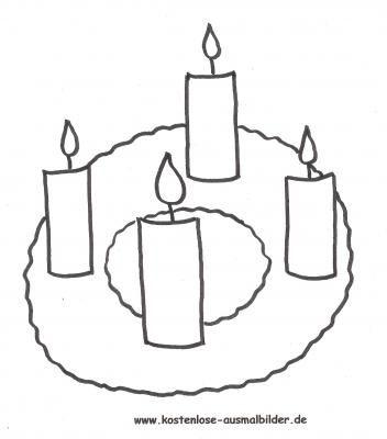 Ausmalbilder Weihnachten Adventskranz 04 Reliunterricht Foods
