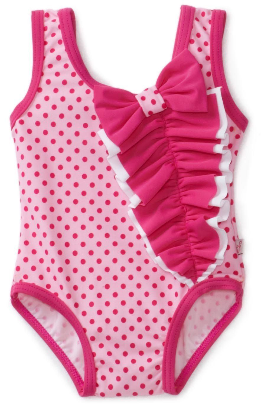 Baby Bunz Girls Flower Applique Swimsuit With Terry Cover Up