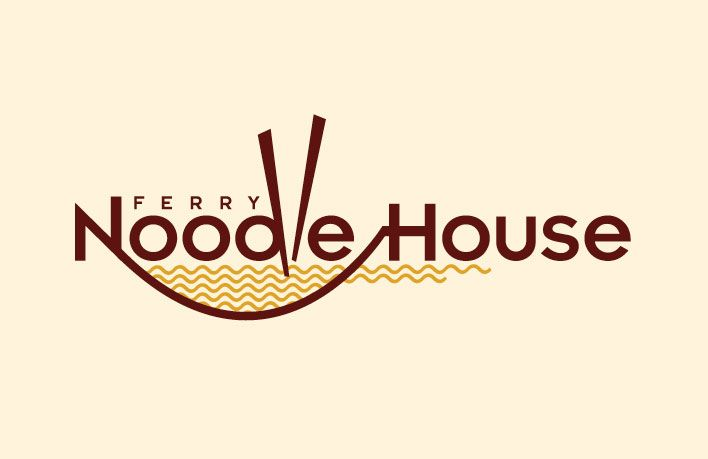 Love ferry noodle house s logo font design l o v e
