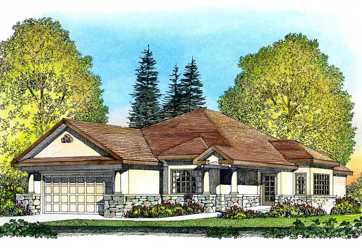 Narrow Lot House Plan with Handicap Features