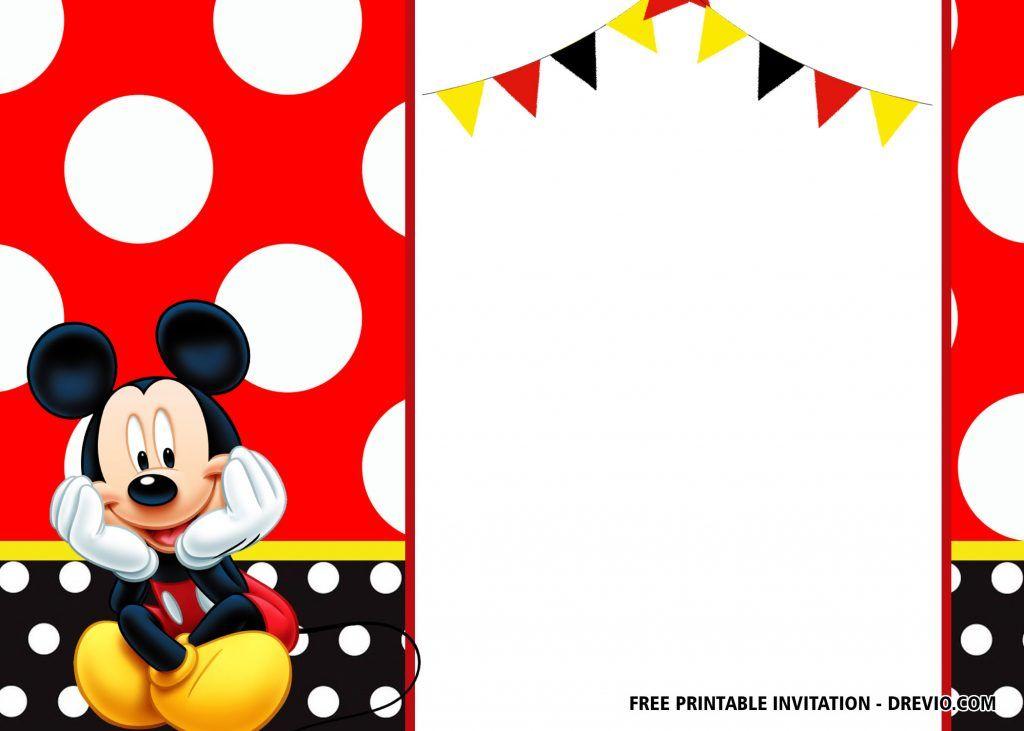 Free Mickey Mouse Birthday Invitation Templates Latest Mickey Mouse Birthday Invitations Mickey Mouse Invitation Mickey Mouse Birthday