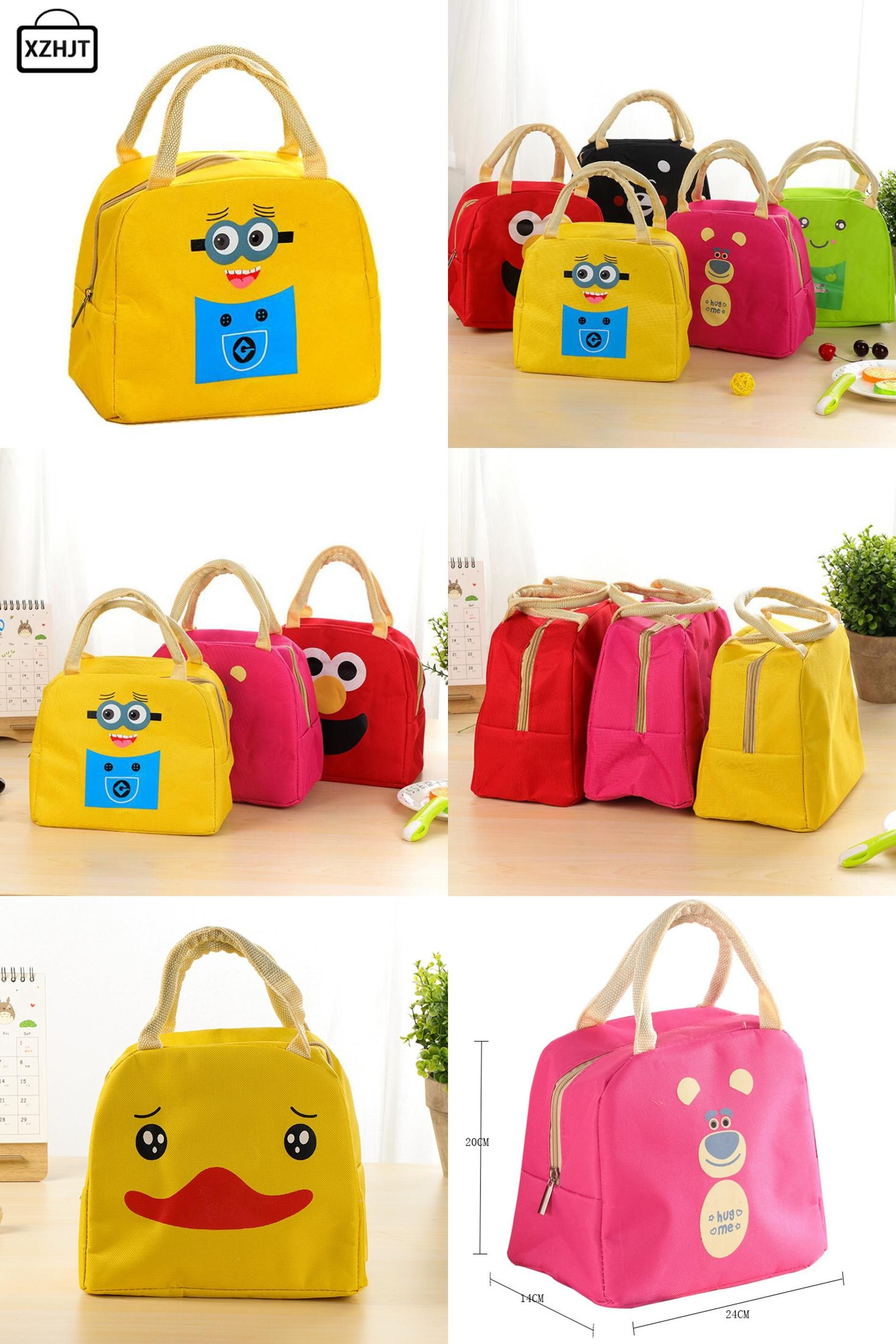 Visit to Buy  Cartoon Portable Insulated Canvas Lunch Bag Minions Thermal  Food Picnic Lunch ca6e14552e410
