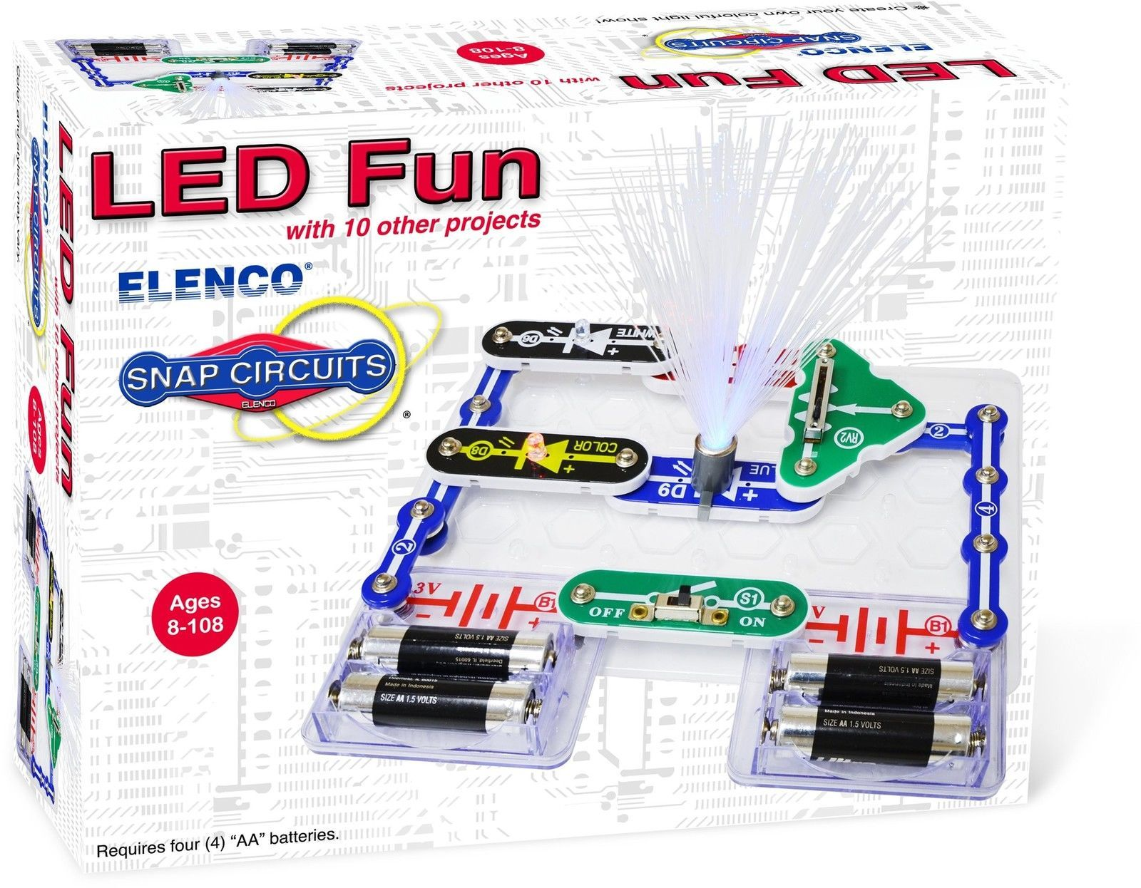 Transformer Elenco Electronics Scp 11 Snap Circuits Led Fun Science Electronic Circuit Kit