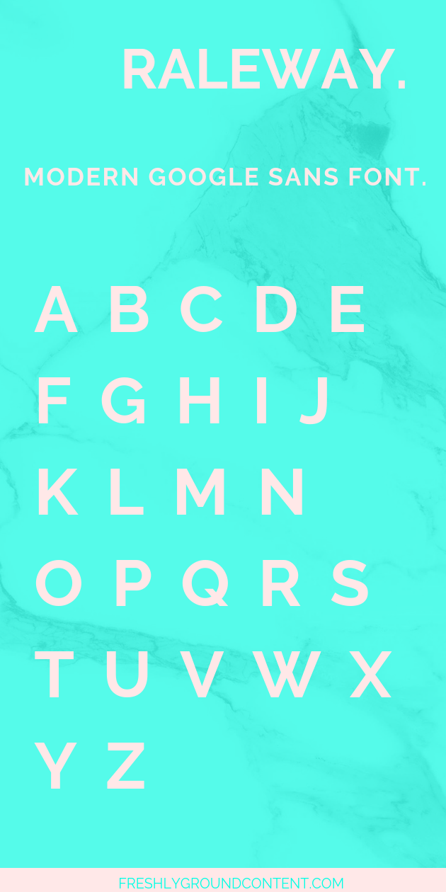 Modern free fonts from Google Fonts to brighten up your blog or