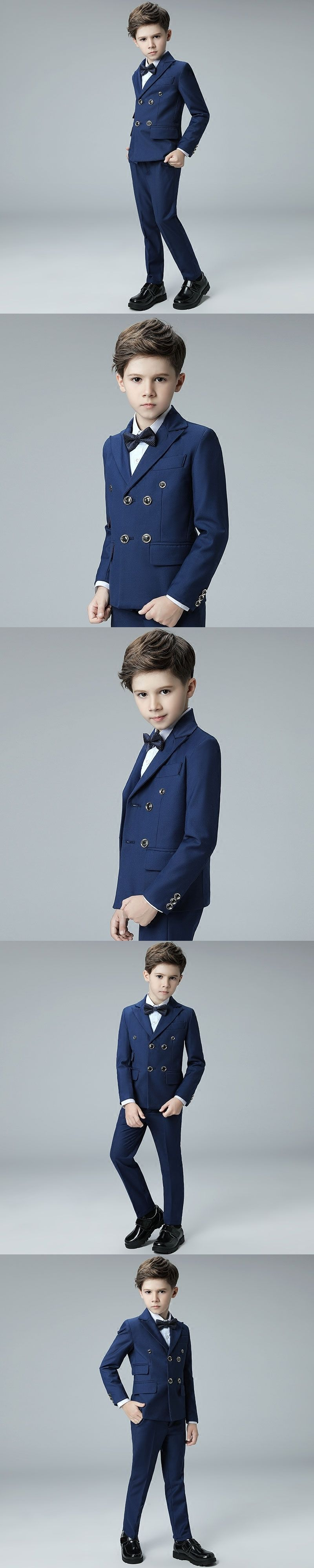 2017 elegant Honorable Lapel Kid Tuxedos Boy\'s Worsted picture Color ...