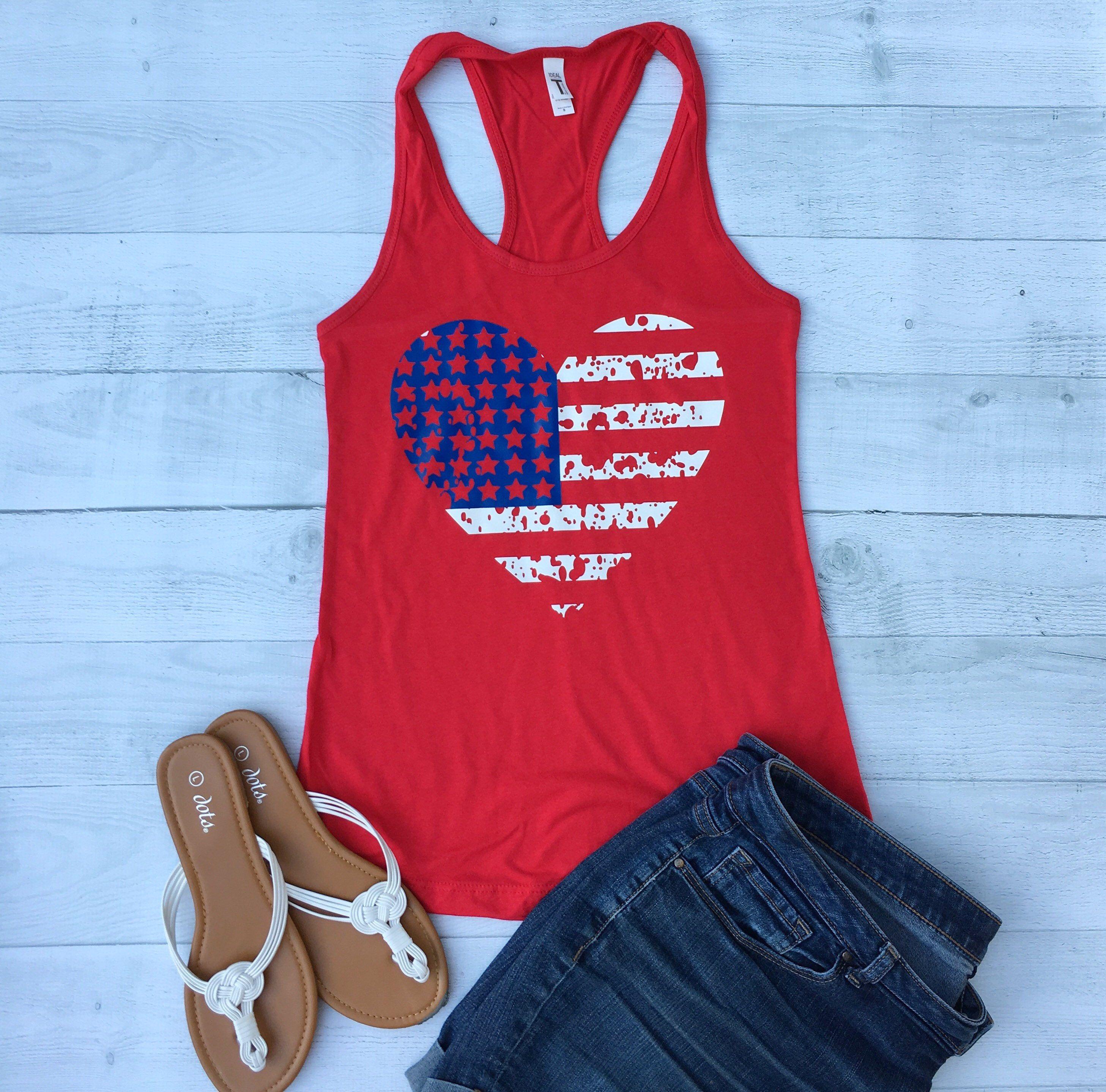 American Flag Tank Top Super Cute American Flag Tank Top Tank Top Fashion American Flag Tank