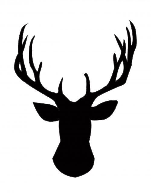DIY Gold Foil Deer Head Silhouette   Deer head silhouette ...