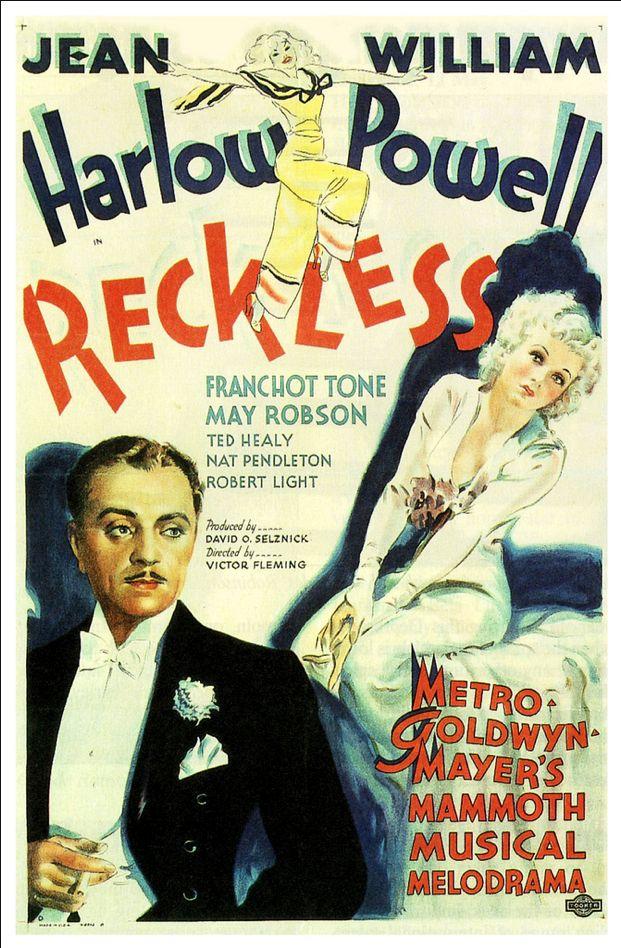 Reckless 1935 William Powell Jean Harlow Cartazes De Cinema