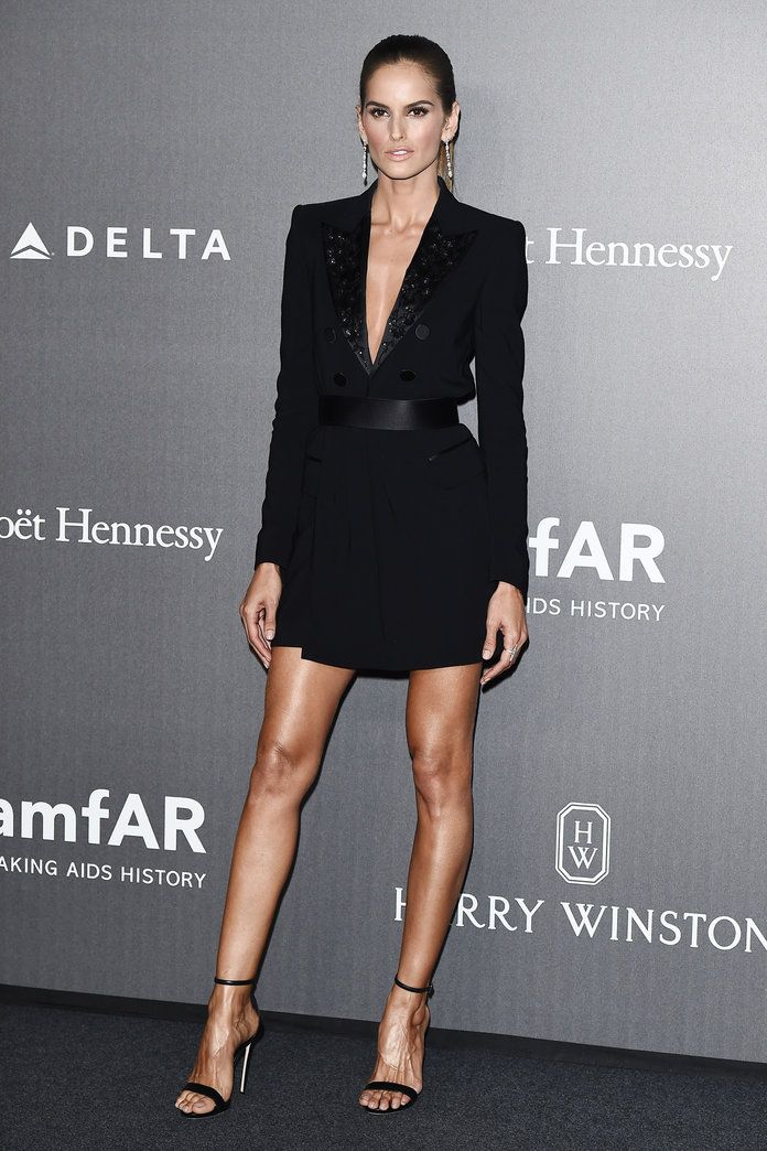 Alessandra Ambrosio Wears a Sequined Bra to Milan's amfAR Gala