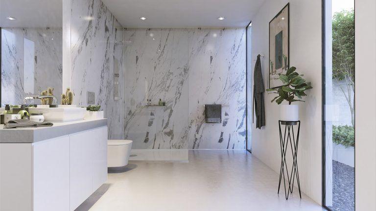 Lightning Marble Showerwall Shower Wall Panels Bathroom Trends Bathroom Wall Panels