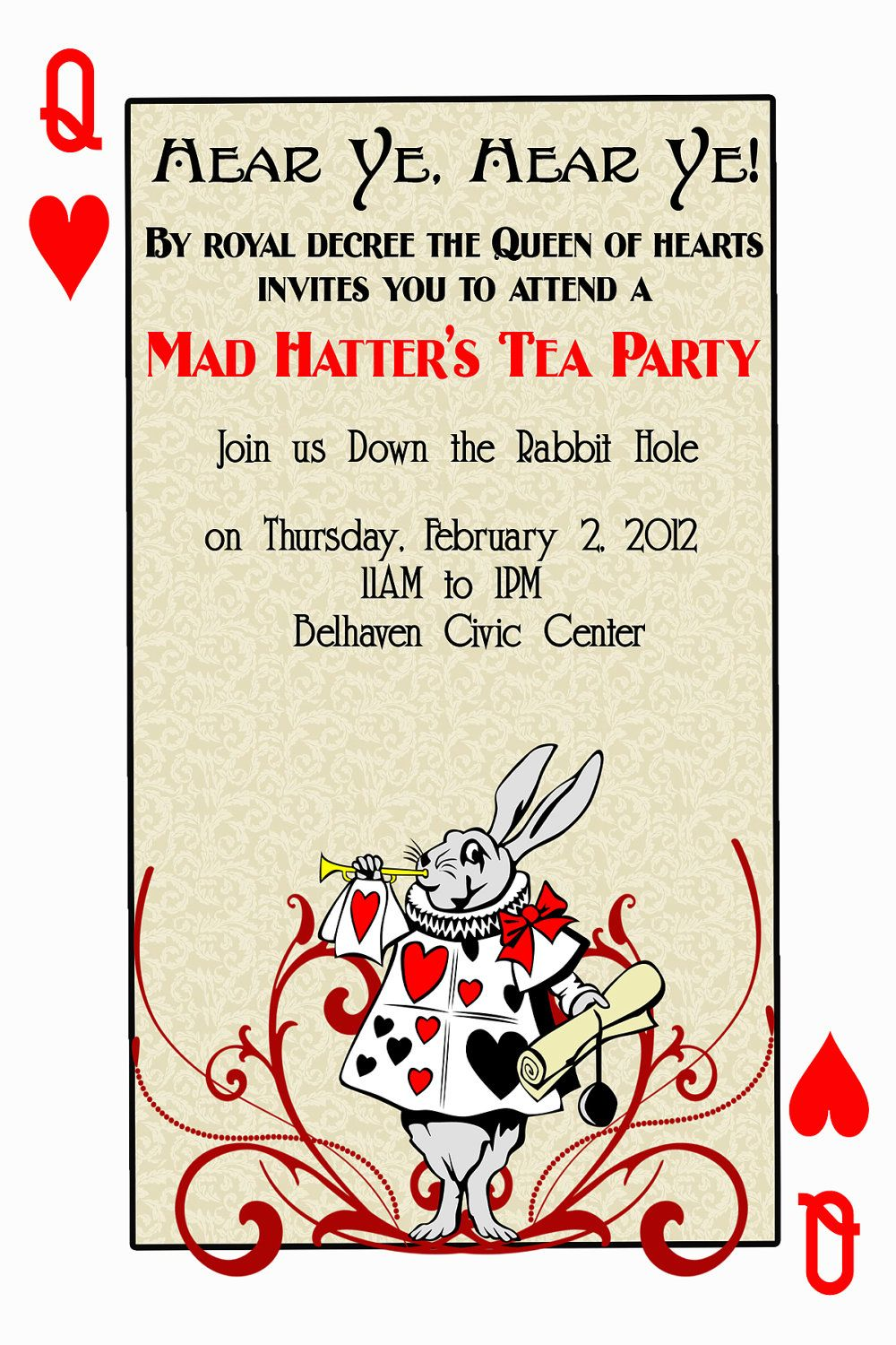 alice in wonderland playing cards | Alice in Wonderland tea party ...