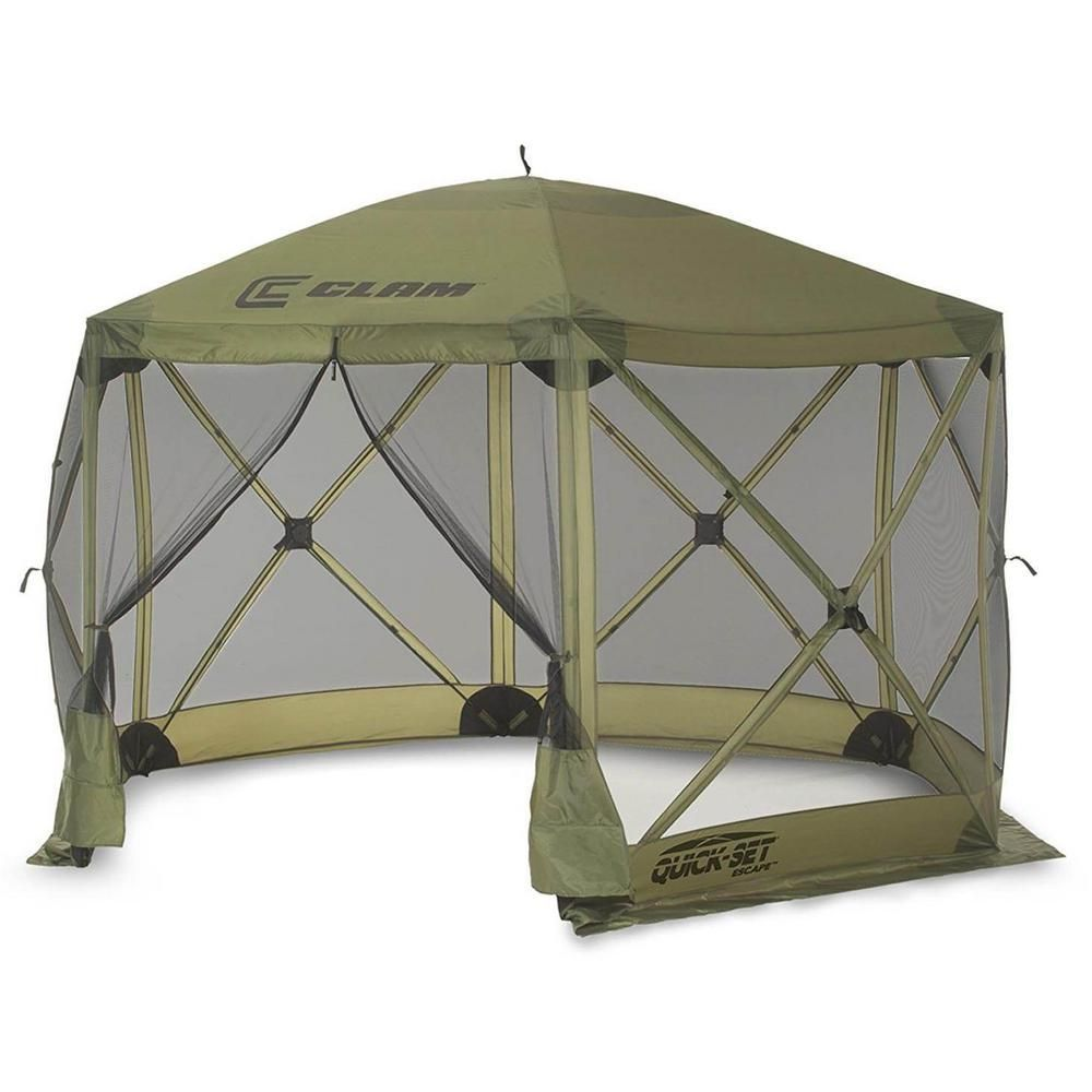 Clam Escape Portable Camping Outdoor Gazebo Canopy In 2020 Sets