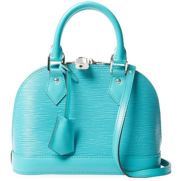 64aab442bcc9 Louis Vuitton Women s Vintage Blue Epi Alma BB - Turquoise Aqua ...