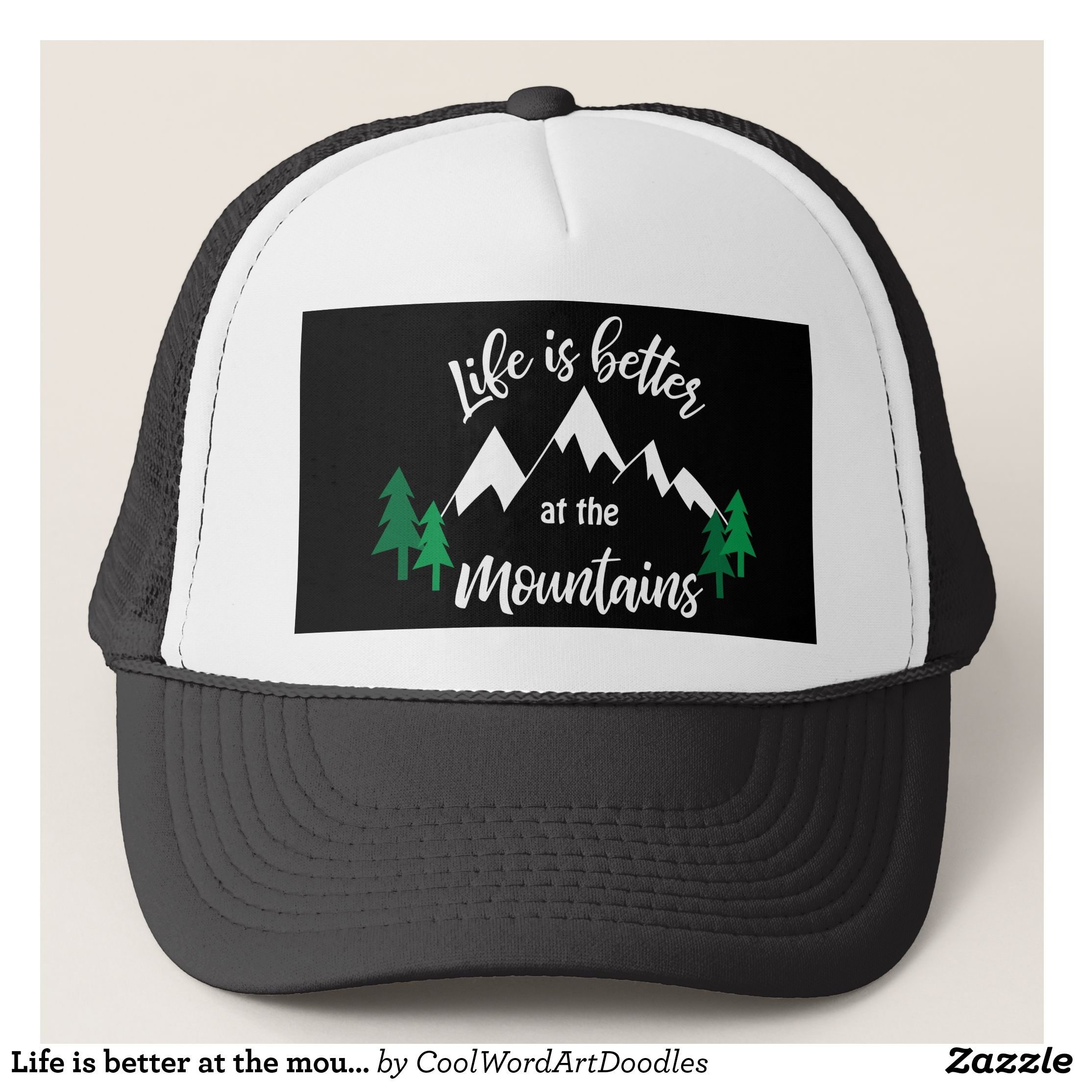 51abc29c8fa Life is better at the mountains Country hat - Urban Hunter Fisher Farmer  Redneck Hats By Talented Fashion And Graphic Designers -  hats  truckerhat  ...