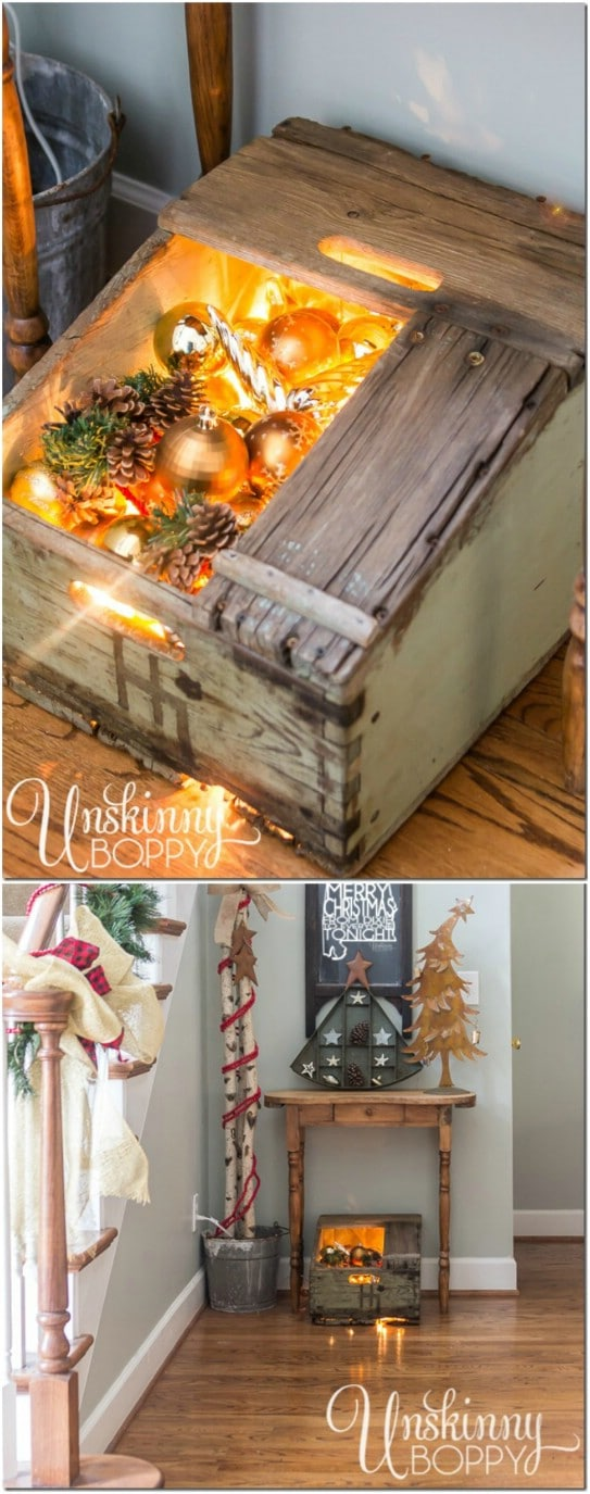25 Reclaimed Wood Christmas Decorations to Add Rustic Charm To Your Home - Ah Christmas! It will be here before you know it so I hope you have your DIY Christmas projects all lined up. If not, I'm here to help. I love doing things with reclaimed wood. One reason I love them is because they're really cheap projects because you already have the wood on hand. #diy #crafts #christmas #reclaimedwood #decorations