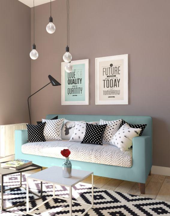 Wohnung im skandinavischen Stil Living rooms, Salons and Room - schöner wohnen farben wohnzimmer