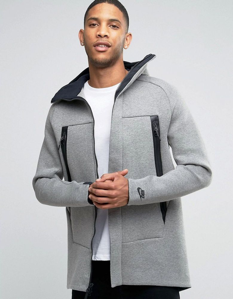 Mens Nike Tech Fleece Premium Parka Hoodie Jacket Lightweight Grey Msrp 250 S Nike Parka Nike Tech Fleece Jacket Nike Tech Fleece Fleece Jacket Outfit