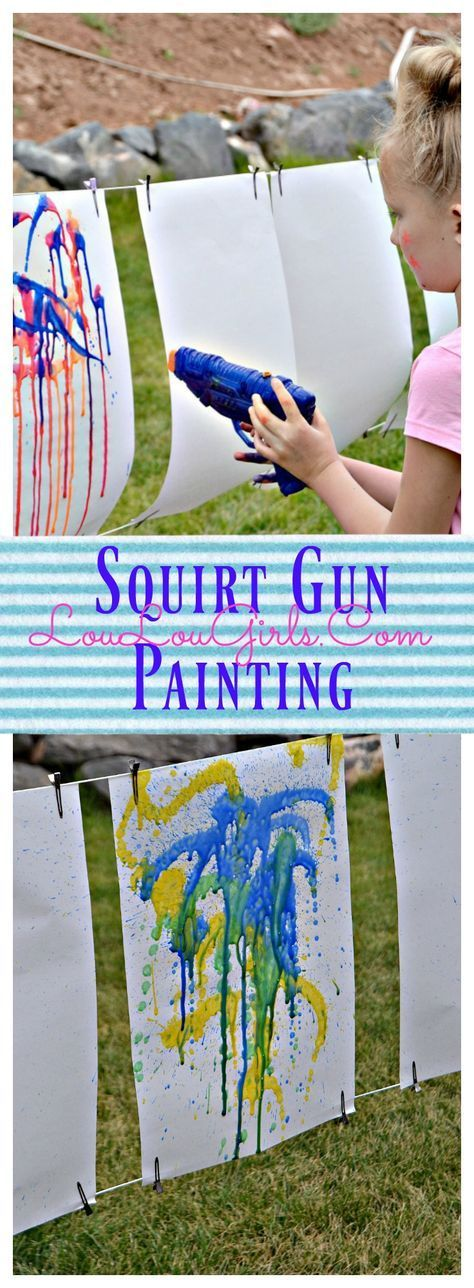 Squirt Gun Painting Tutorial - Lou Lou Girls