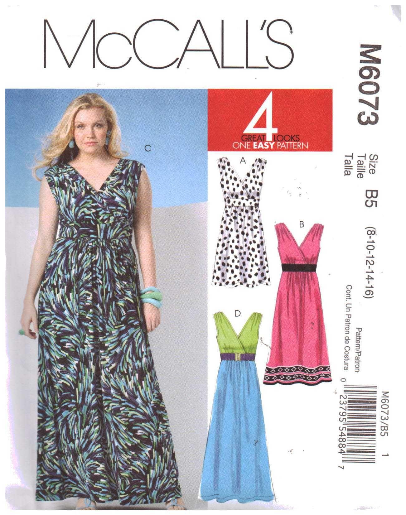 Mccall S M6073 Dress In Three Lengths Size Rr 18w 20w 22w 24w Or B5 8 10 12 14 16 Uncut Sewing Pattern Pattern Dress Women Sewing Dresses Linen Dress Pattern [ 1652 x 1302 Pixel ]