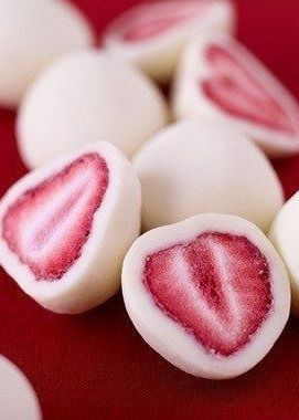 Afternoon Snack: Dip Strawberries in Yogurt & Freeze, and You Get This Amazing Snack