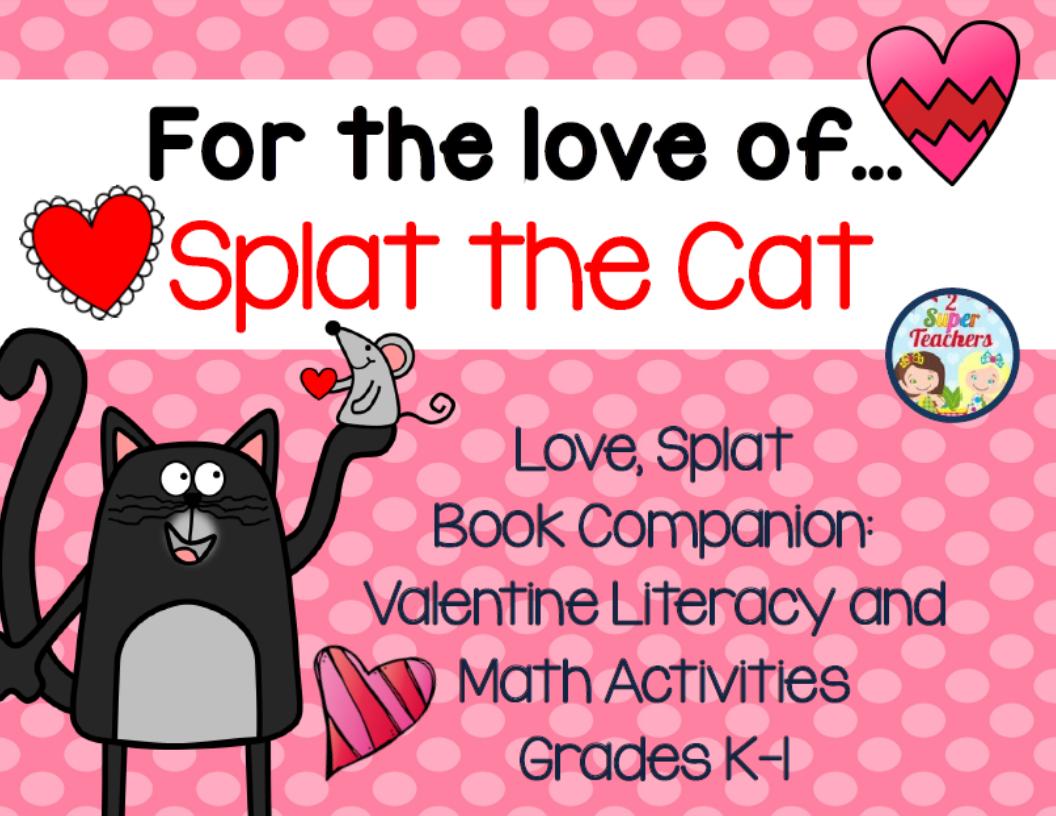 Splat The Cat Math Amp Literacy Packet