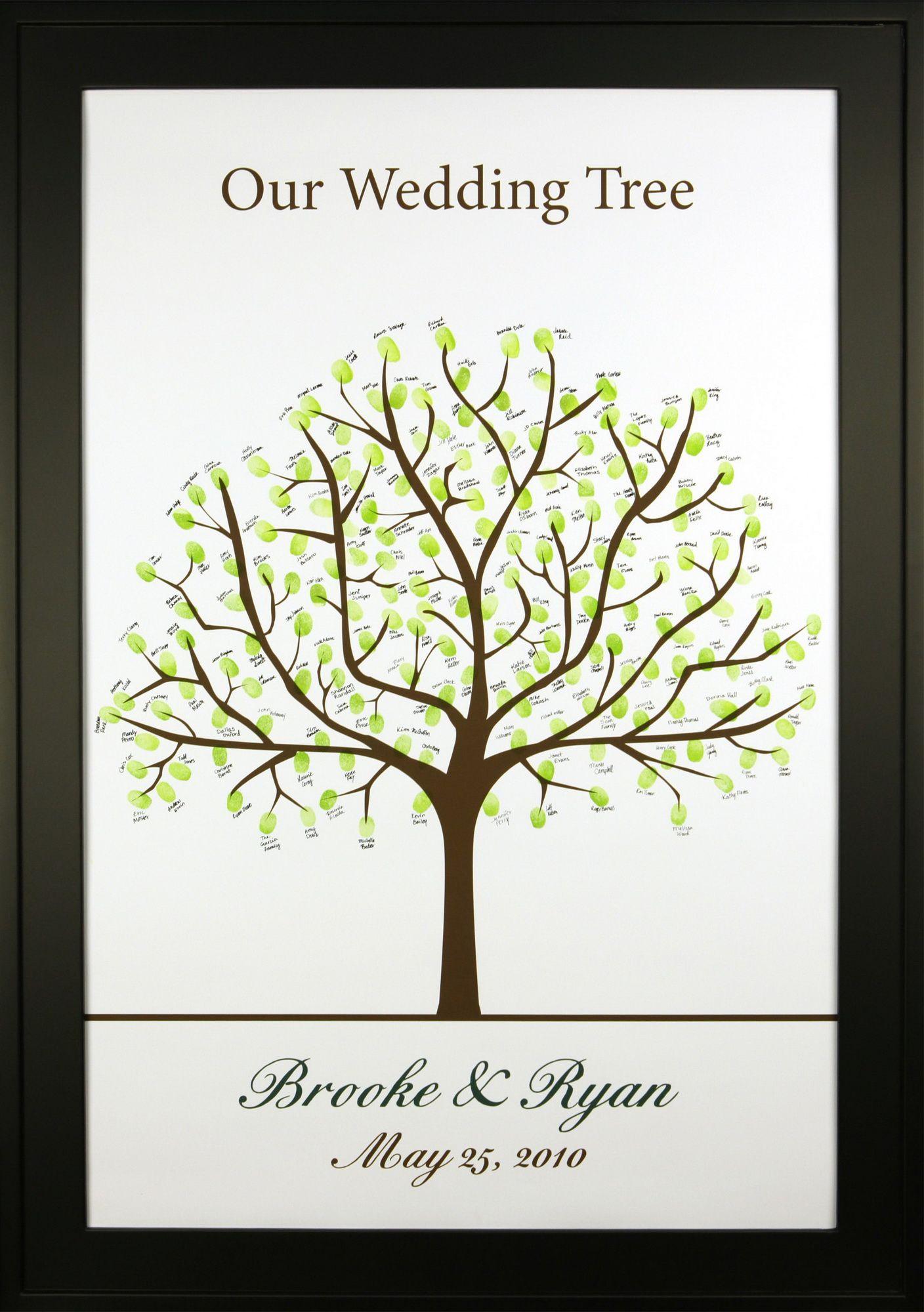 Thumbprint Wedding Guestbook Tree Sample