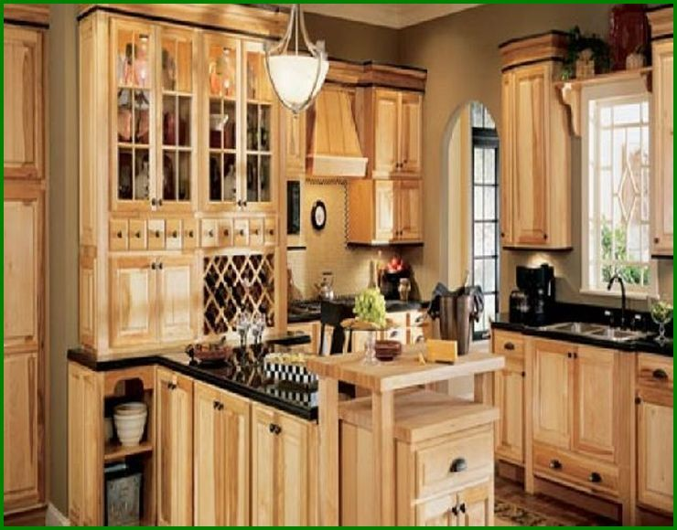 assembled+hickory+kitchen+cabinets | thomasville kitchen