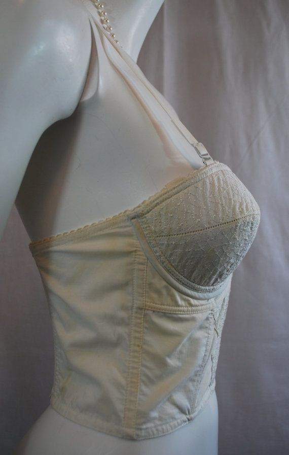 898d856aefb9a 1950s Maidenform Prelude Long Line Bullet Bra by IntimateRetreat ...
