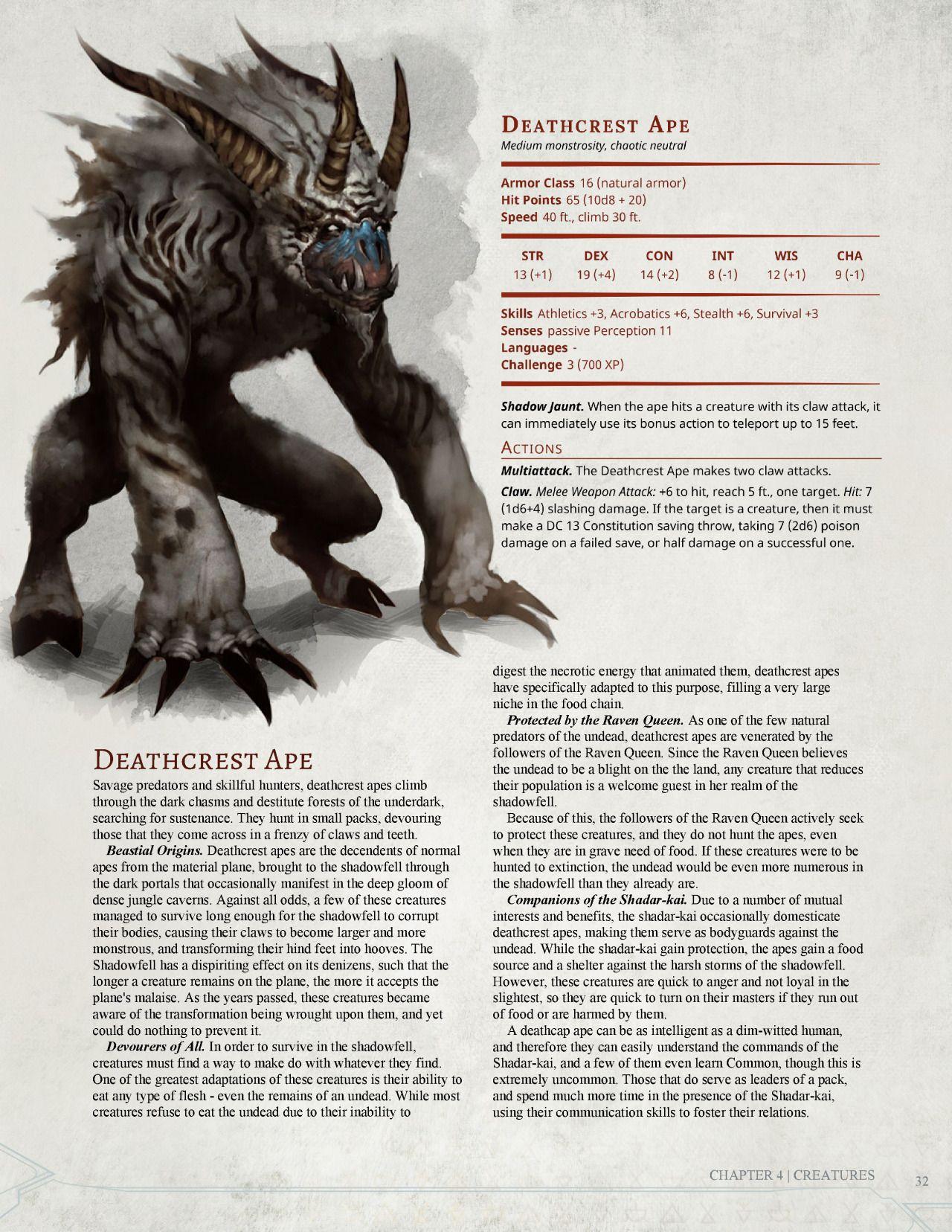 Dark Arts Player's Companion Monsters Part 1 by Jonoman3000 | D&D