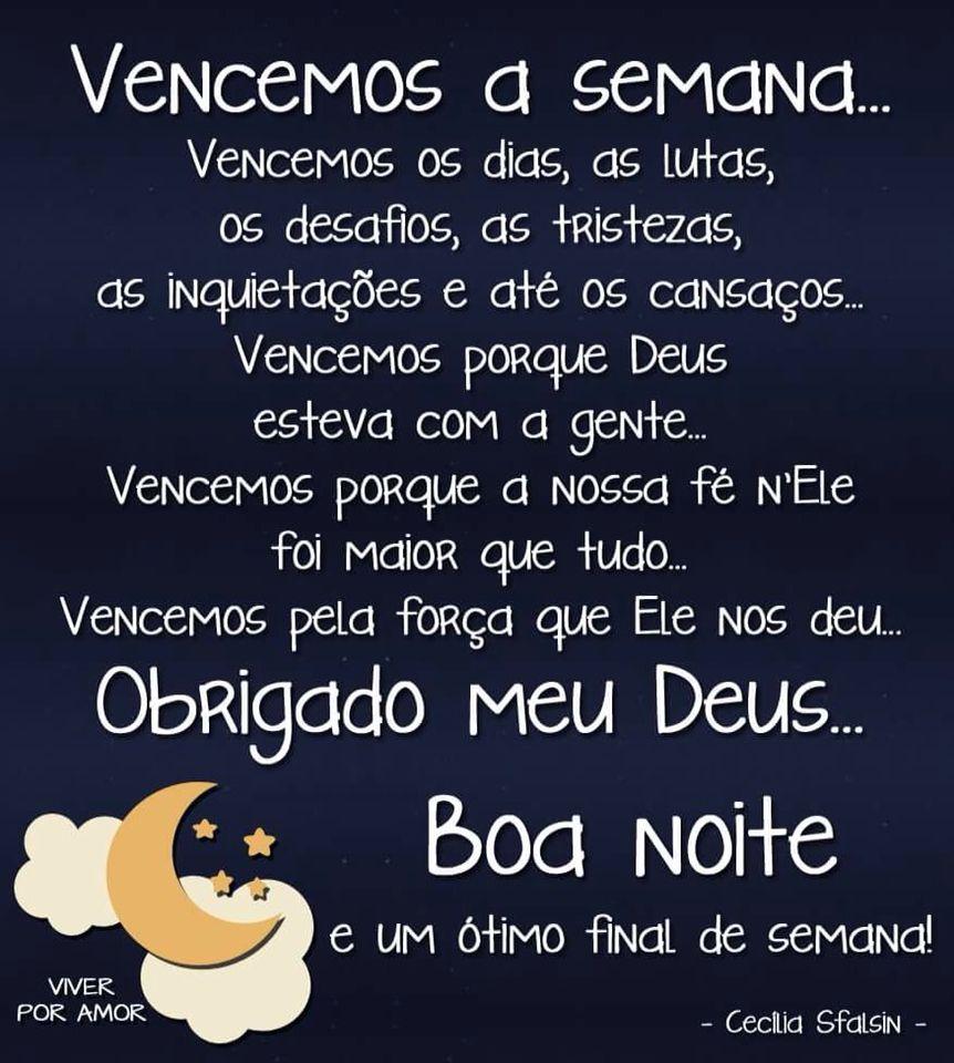 Boa Noite Bom Final De Semana Com Imagens Mensagem De Boa Noite