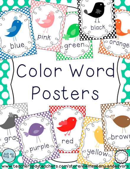 color posters  bird themed
