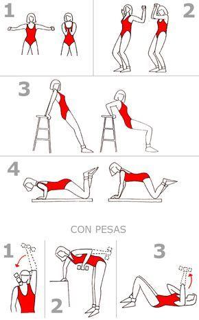 Plan de ejercicios para adelgazar mujeres