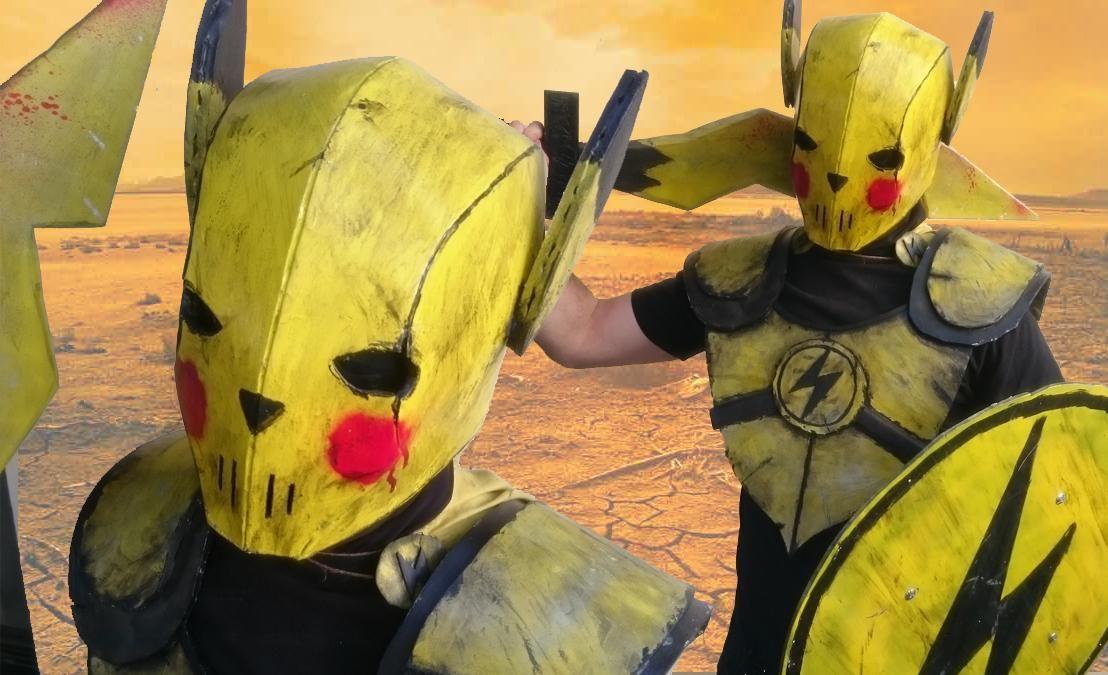 [self] Iu0027m making a Wastelander Pikachu suit of armour #cosplay  & self] Iu0027m making a Wastelander Pikachu suit of armour #cosplay http ...