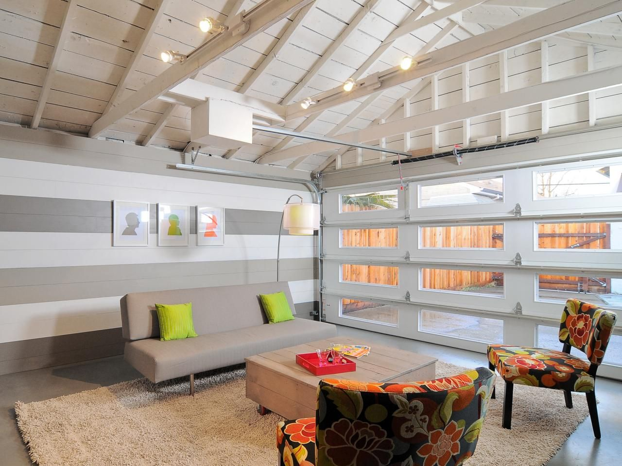 15 Home Garages Transformed Into Beautiful Living Spaces | Pinterest ...