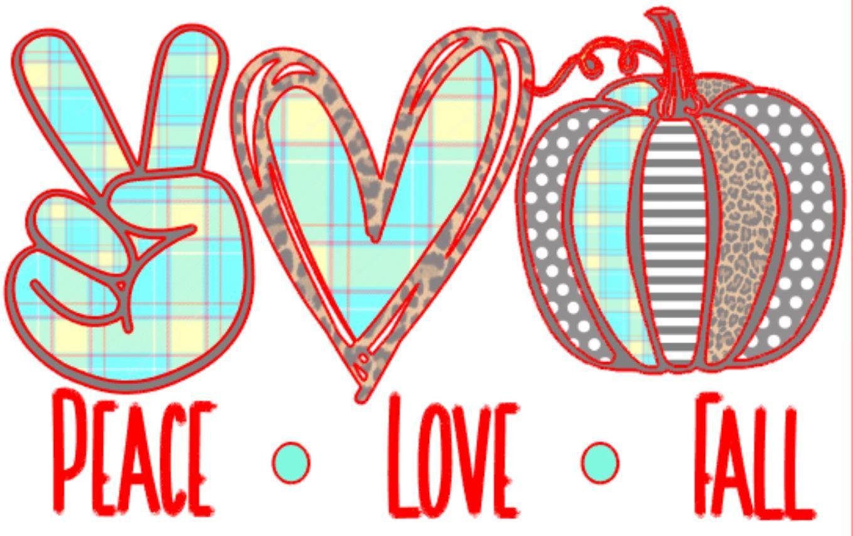 Download Peace, Love, Fall, Pattern Pumpkin svg/png/digital ...