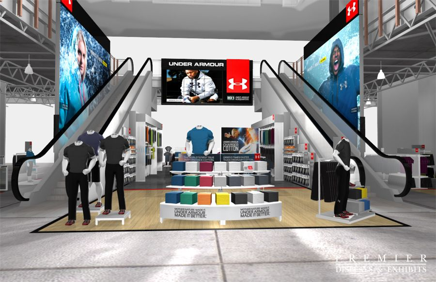 Under Armor Retail S Premier Displays Exhibits Inc