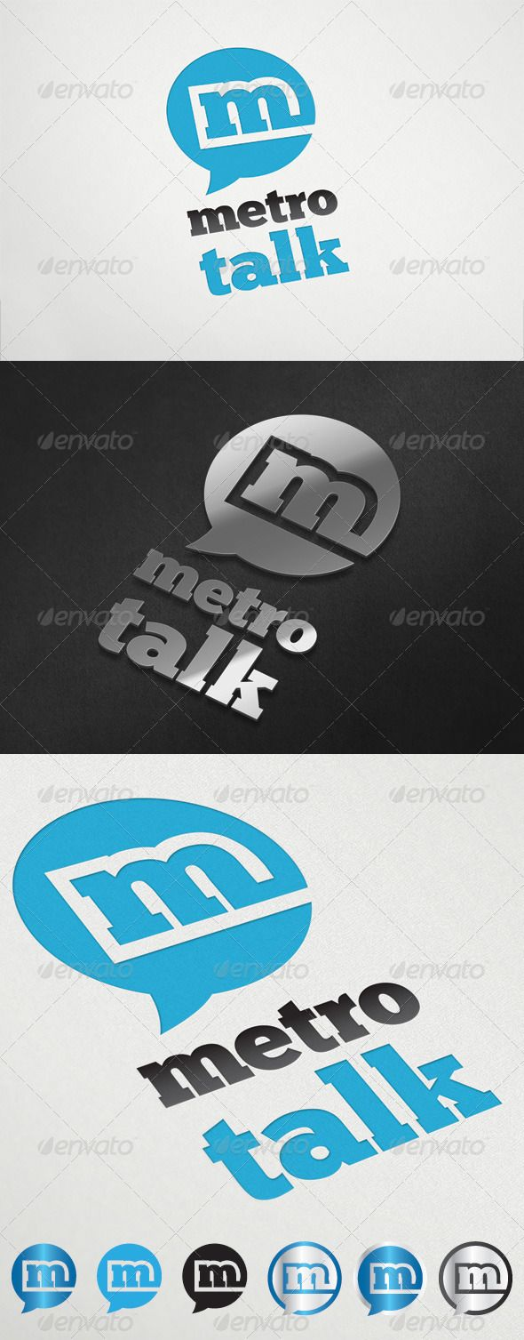 MetroTalk Logo Template GraphicRiver Summary info Vector Ai and EPS