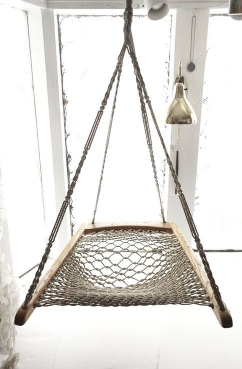 Hanging Rope Hammock Chair Rooms House And House Stuff Pinterest