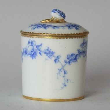 Sevres Pommade Pot With Cover, 1758
