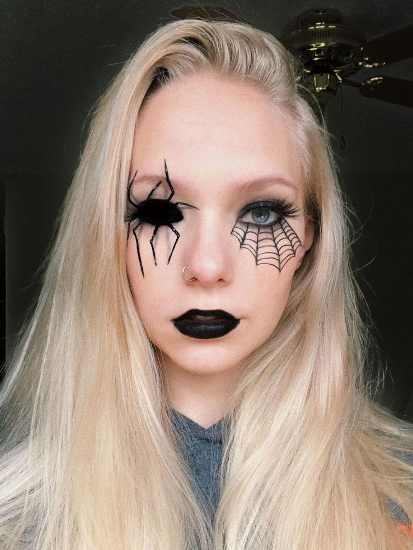 Halloween spider web makeup look 2019 in 2019 Halloween