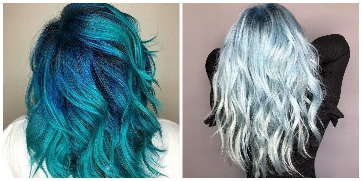 Blue Hair 2019 The Most Fabulous And Fashionable Hair Color Of 2019 Blue Hairstyles Haircuts Hair Hairstyle Haircut Styles Hair Color Blue Hair Hair