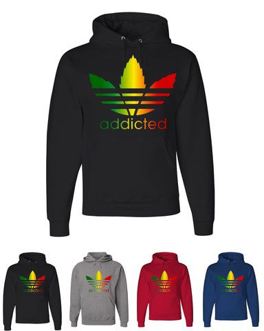 00c27c1376f88 Addicted Rasta Colors Design Hooded Adidas Sweatshirt | IRIE... in ...