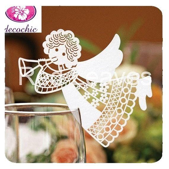 Marque Table Mariage : magnifique marque place ange decoration table mariage ~ Nature-et-papiers.com Idées de Décoration