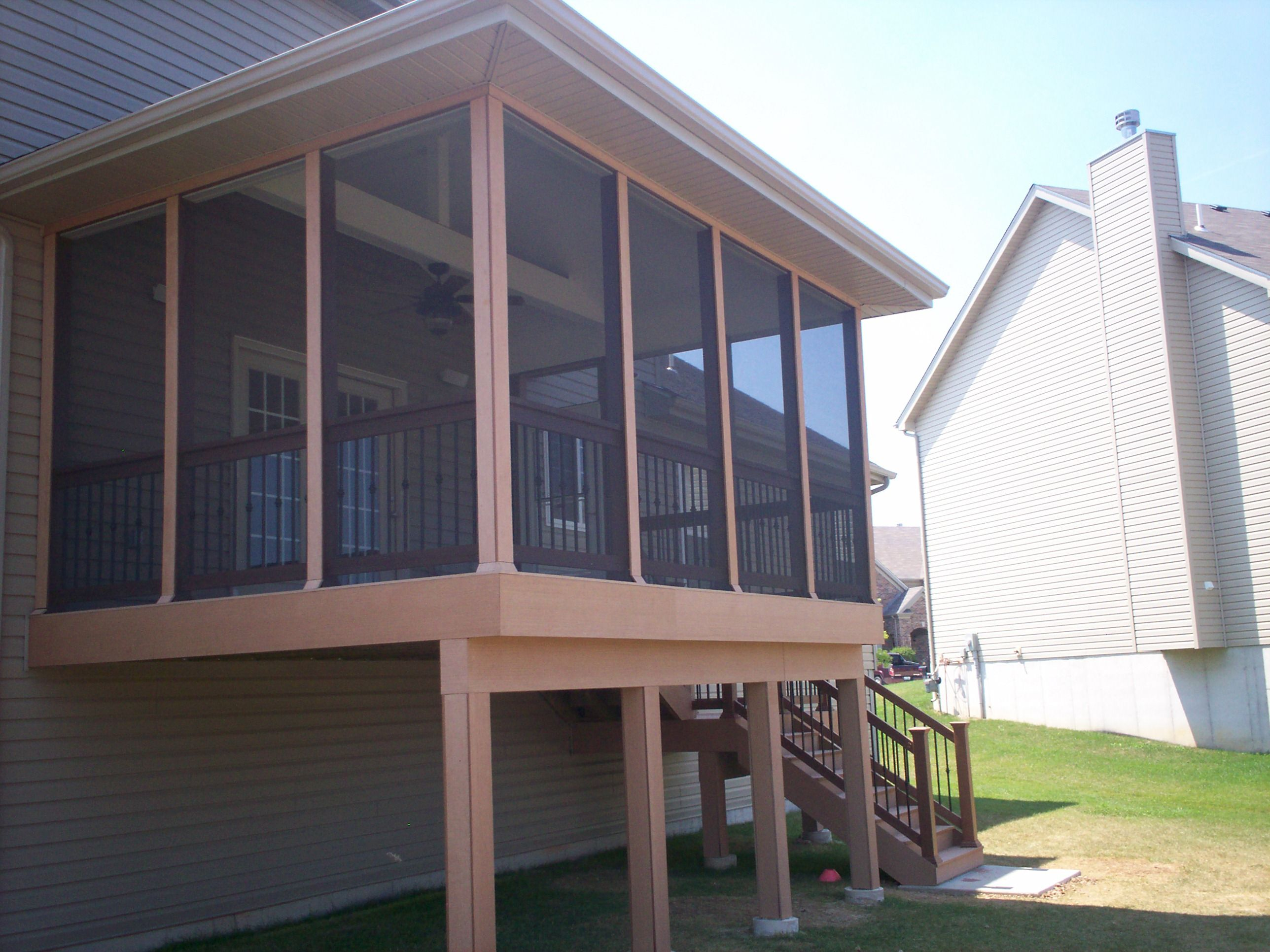 Screen Porch and Deck in St. Louis County | Screened porches, Google images  and Decking