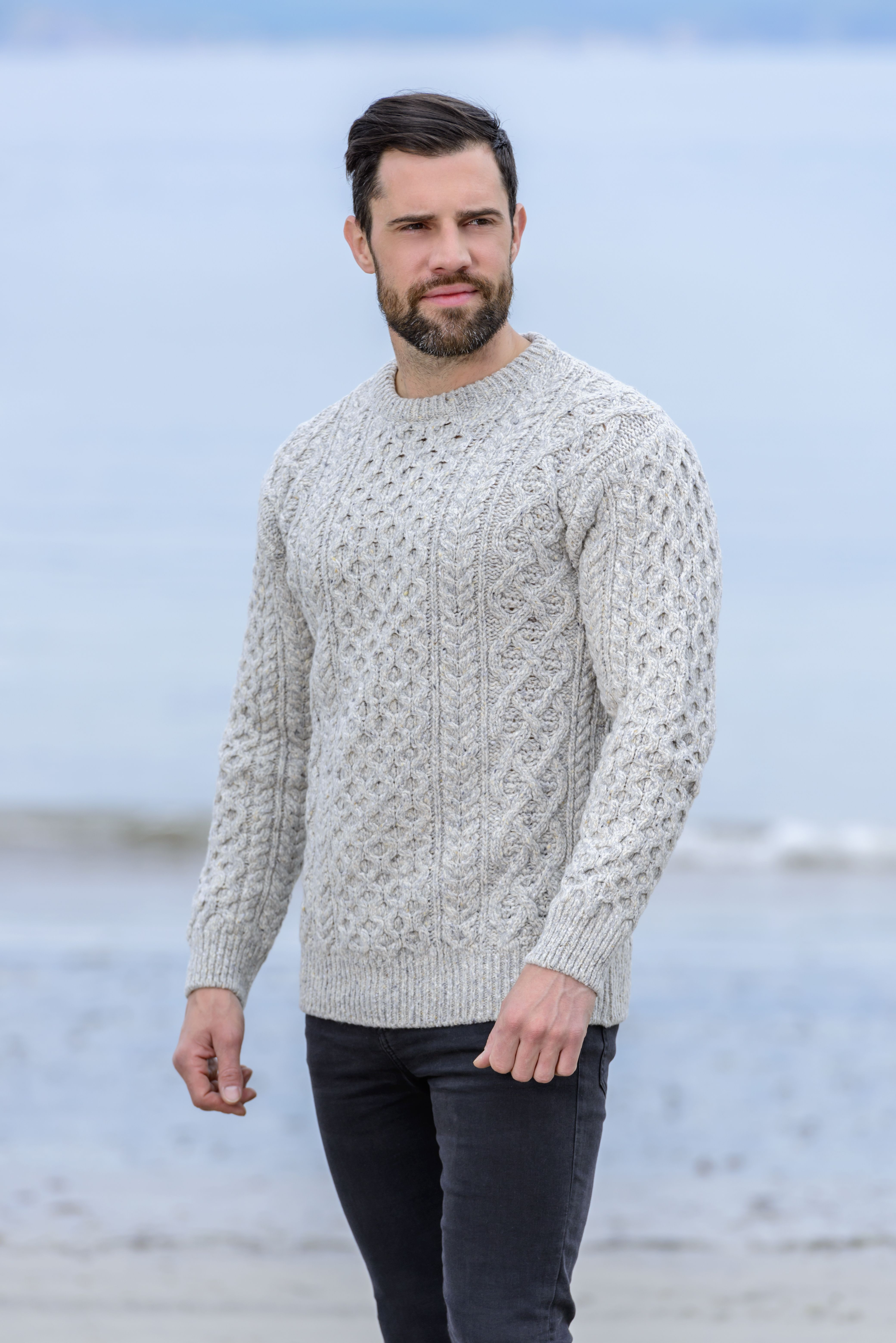 6924e99b0 Wool Cashmere Aran Sweater